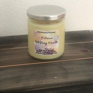 Accents - Citrine Raw Crystal Uplifting Soy Candle